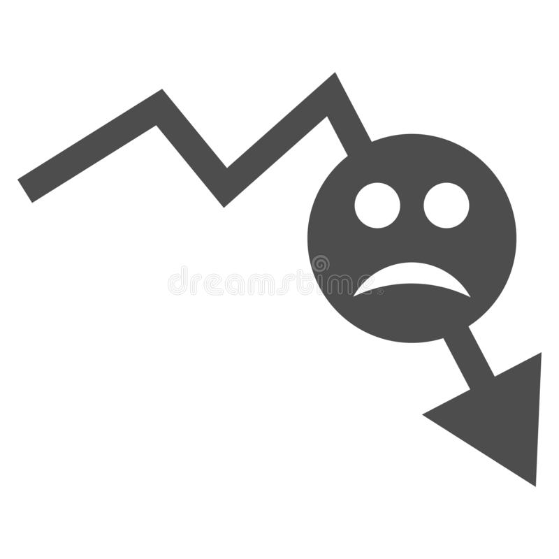 Icône plate négative de Smiley Trend V2 illustration stock