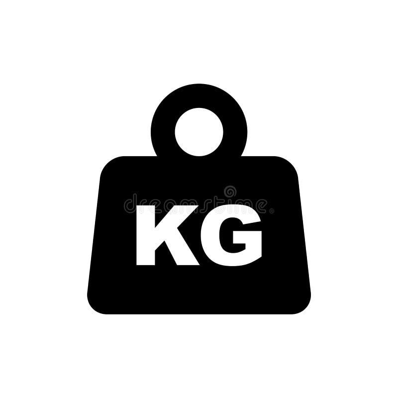 Icône plate simple de style de symbole d'emballage de poids d'isolement illustration de vecteur