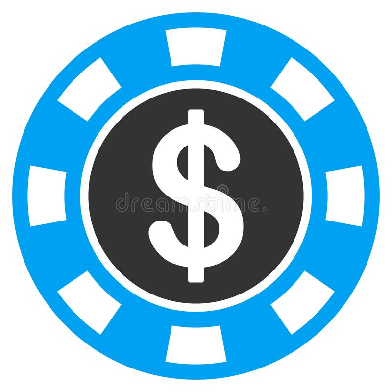 Icône plate symbolique d'argent illustration stock