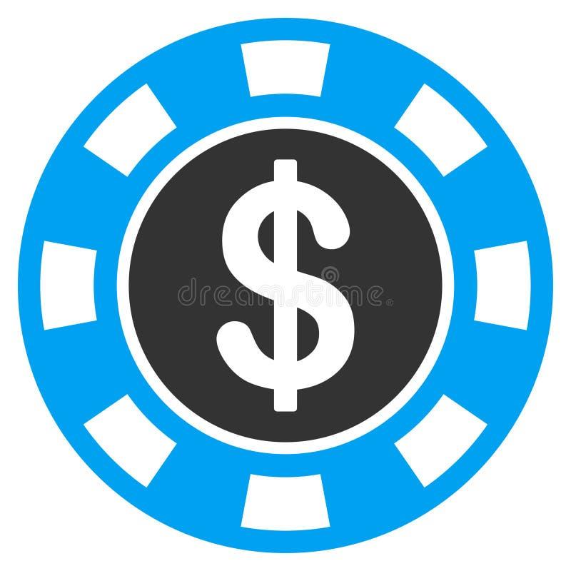 Icône plate symbolique d'argent illustration libre de droits