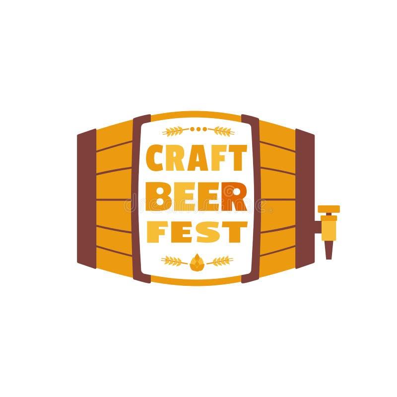Icône plate tirée par la main de vecteur de couleur de festival de bière de métier illustration libre de droits