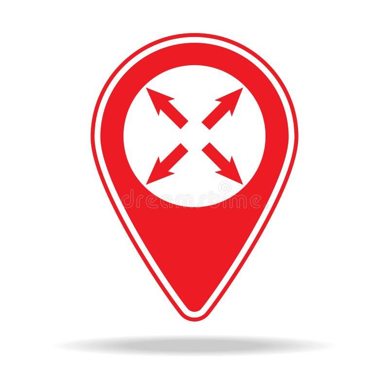 icône pleine page de goupille de carte Élément d'icône d'avertissement de goupille de navigation pour les apps mobiles de concept illustration de vecteur