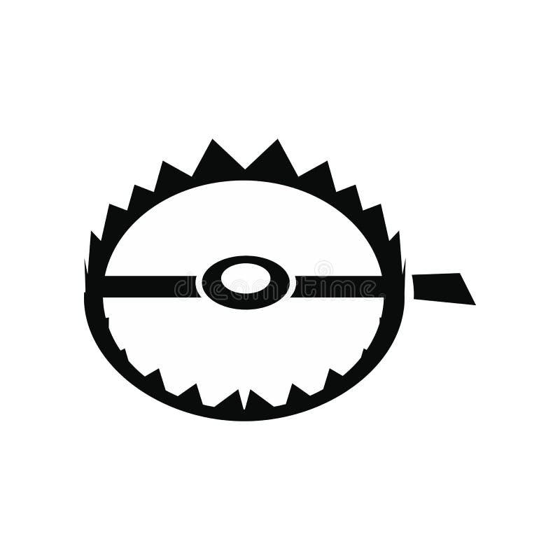 Icône pointue de piège en métal illustration de vecteur