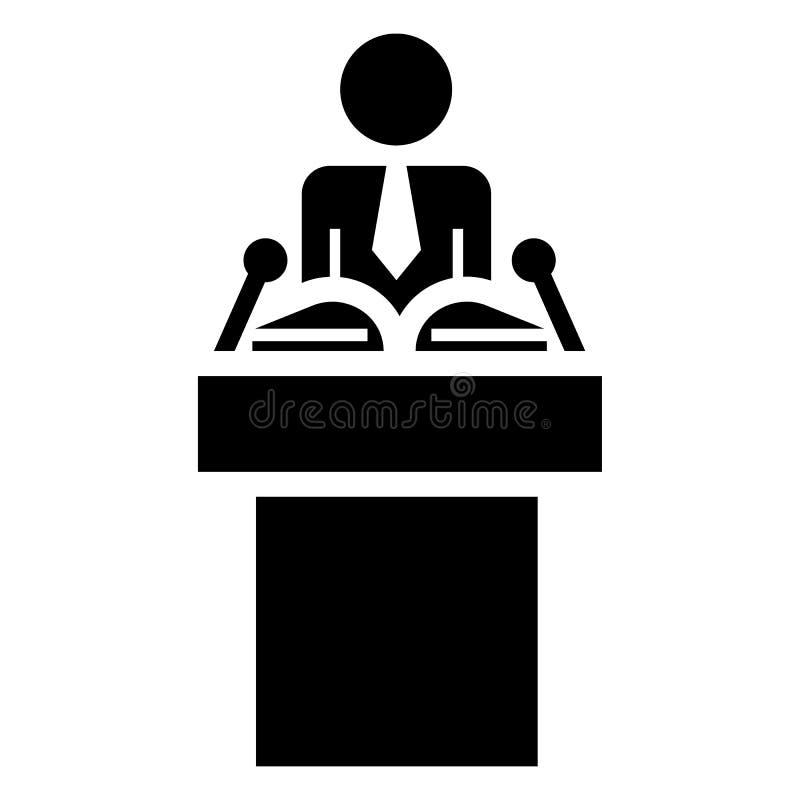 Icône politique de haut-parleur, style simple illustration libre de droits
