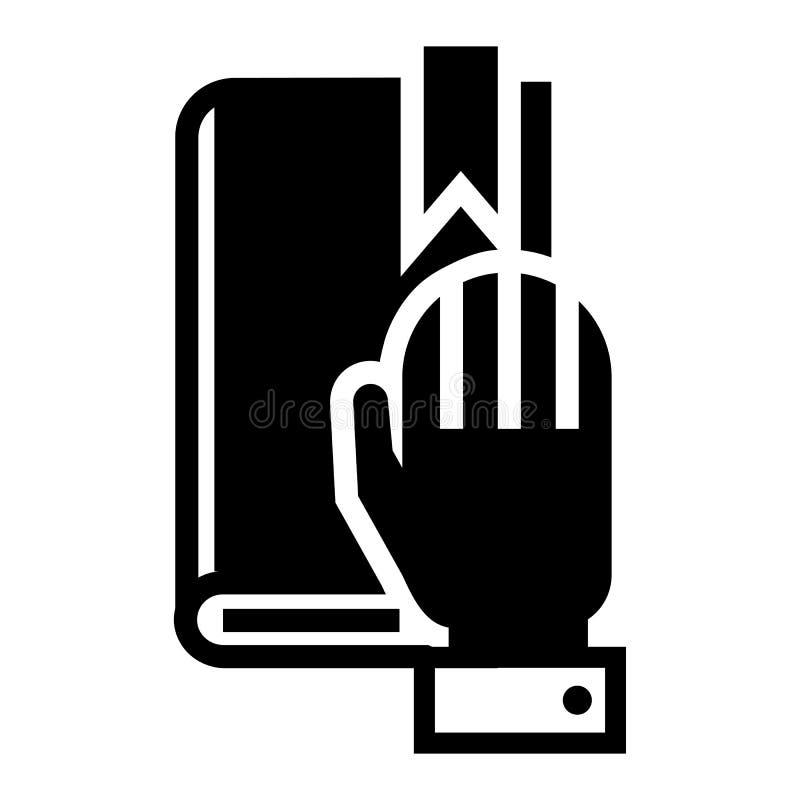 Icône politique de serment, style simple illustration de vecteur