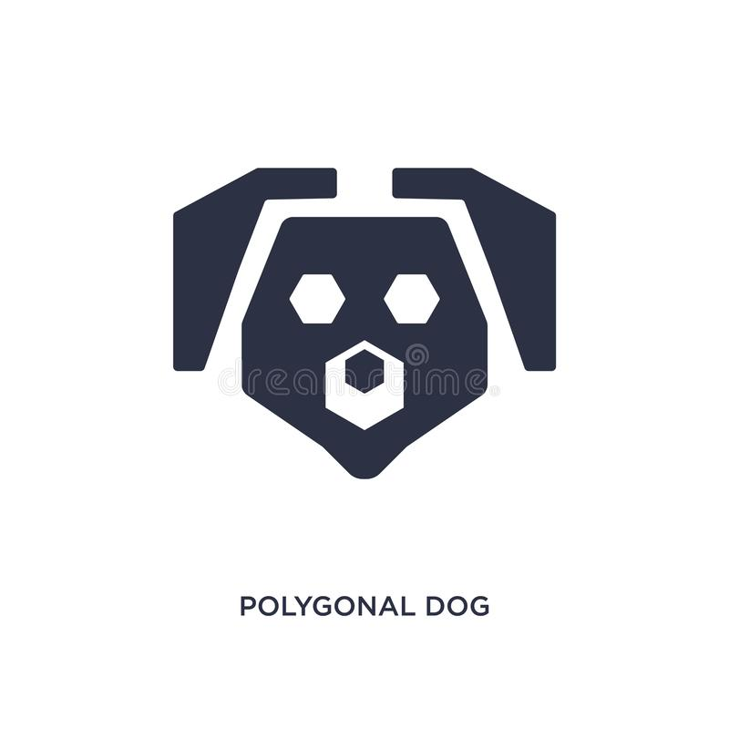 icône polygonale de chien sur le fond blanc Illustration simple d'élément de concept de la géométrie illustration libre de droits
