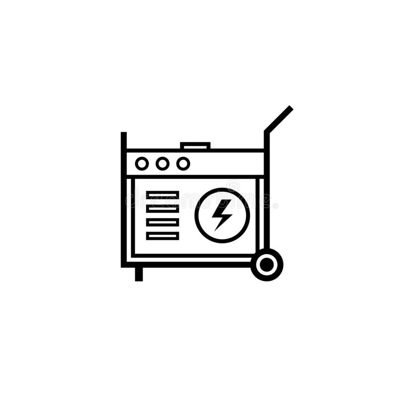 Icône portative d'ensemble de groupe électrogène illustration de vecteur