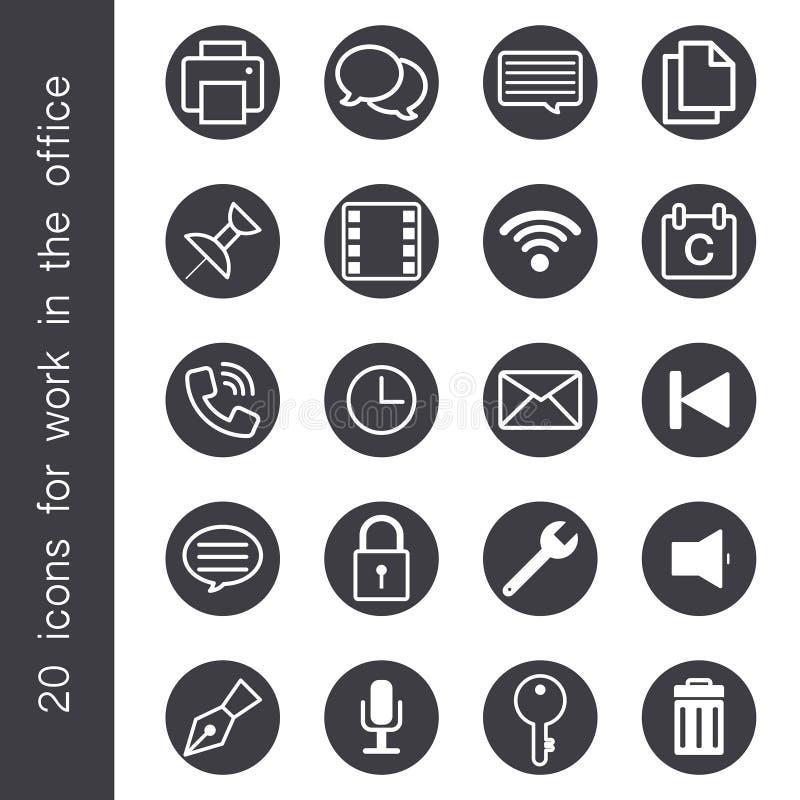 Icône pour l'objet et le signe de bureau illustration stock