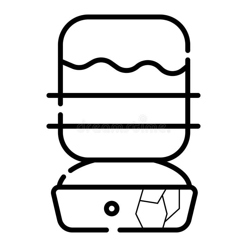 icône pour le refroidisseur d'eau illustration de vecteur
