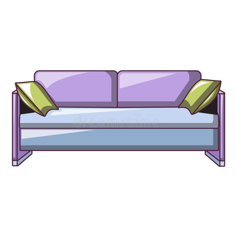 Icône pourpre de sofa, style de bande dessinée illustration libre de droits