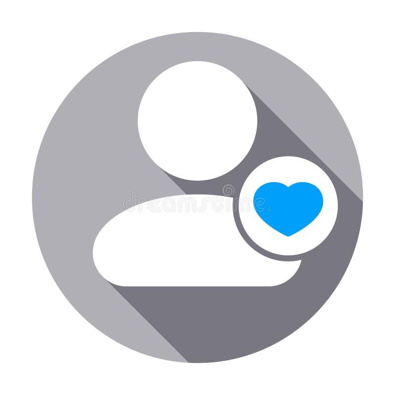 Icône préférée d'utilisateur de taux de personnes de coeur illustration stock