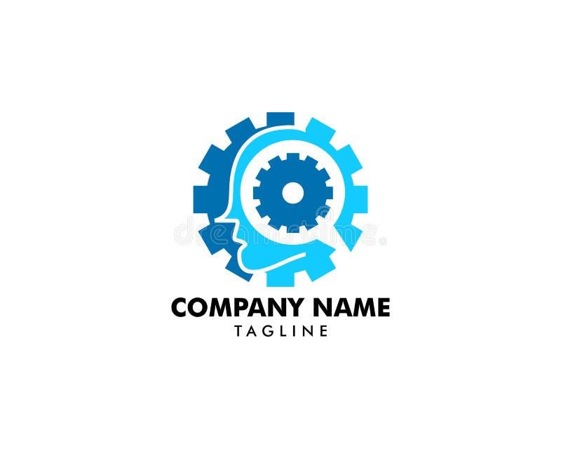 Icône principale de logo d'esprit de vitesse de dent illustration de vecteur