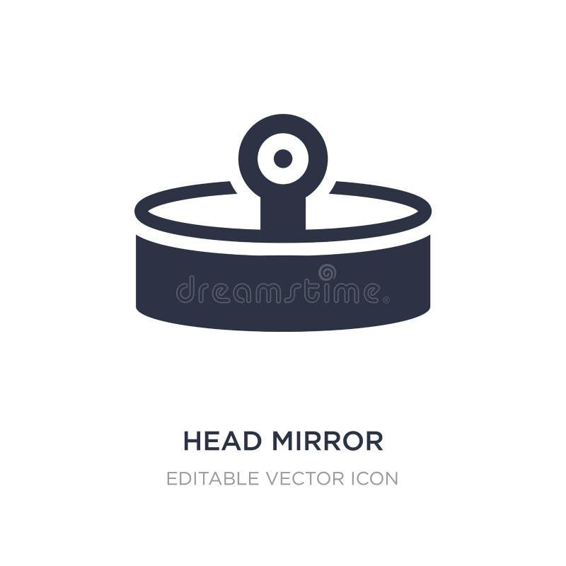 icône principale de miroir sur le fond blanc Illustration simple d'élément de notion générale illustration libre de droits