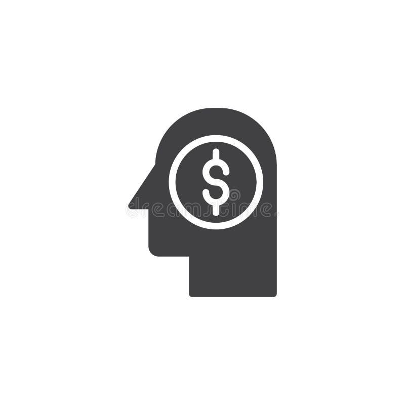 Icône principale de vecteur d'argent illustration libre de droits