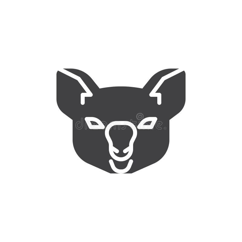 Icône principale de vecteur de koala illustration stock