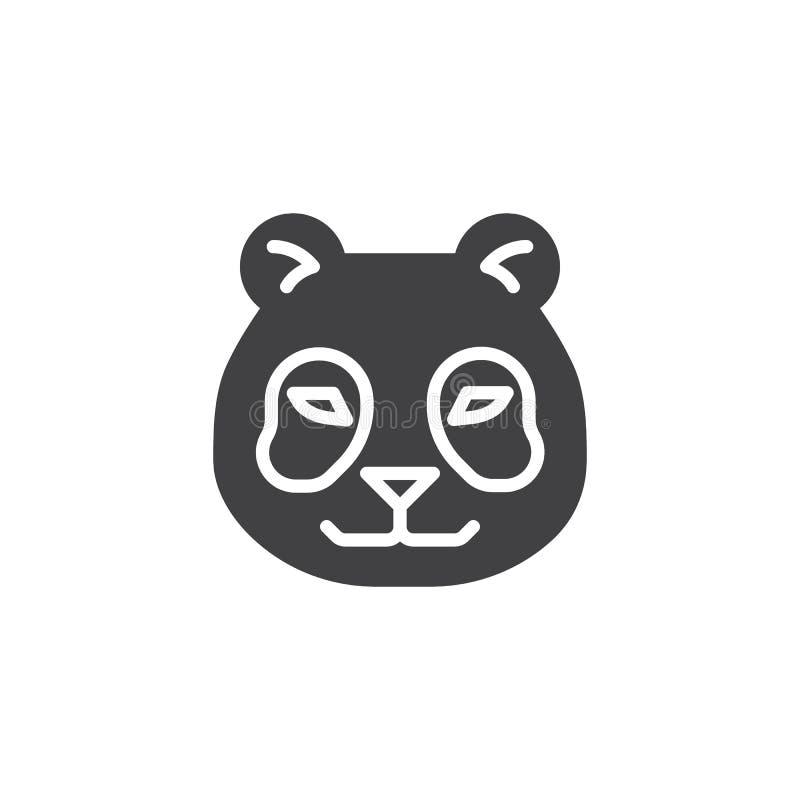 Icône principale de vecteur de panda illustration libre de droits