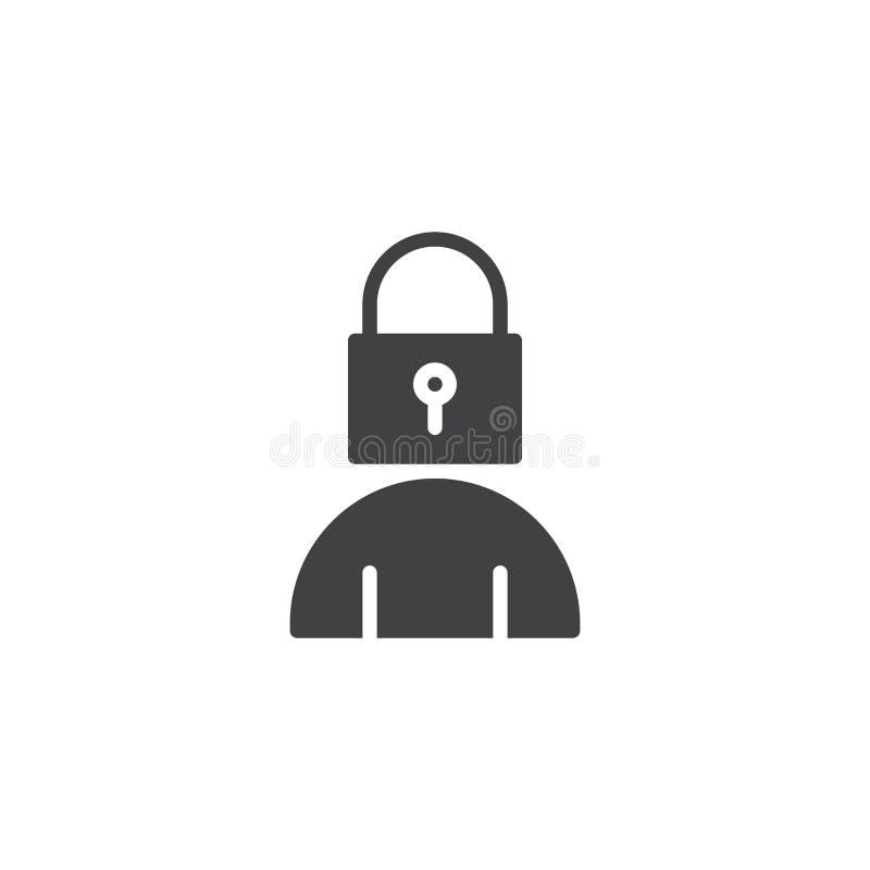 Icône principale de vecteur de serrure d'utilisateur illustration libre de droits
