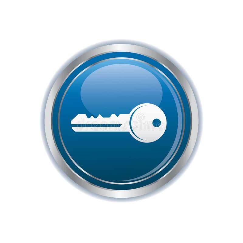 Icône principale sur le bouton illustration de vecteur