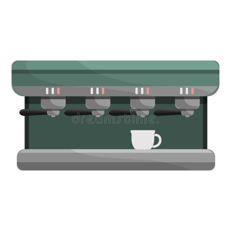 Icône professionnelle de machine de café, style de bande dessinée illustration de vecteur