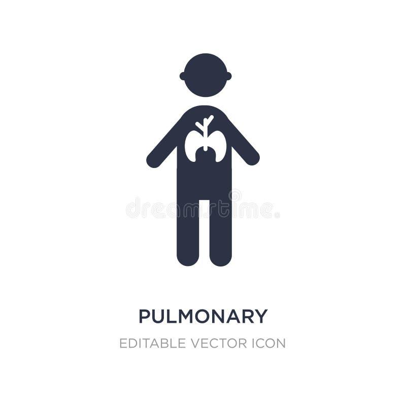 icône pulmonaire sur le fond blanc Illustration simple d'élément de concept de personnes illustration stock