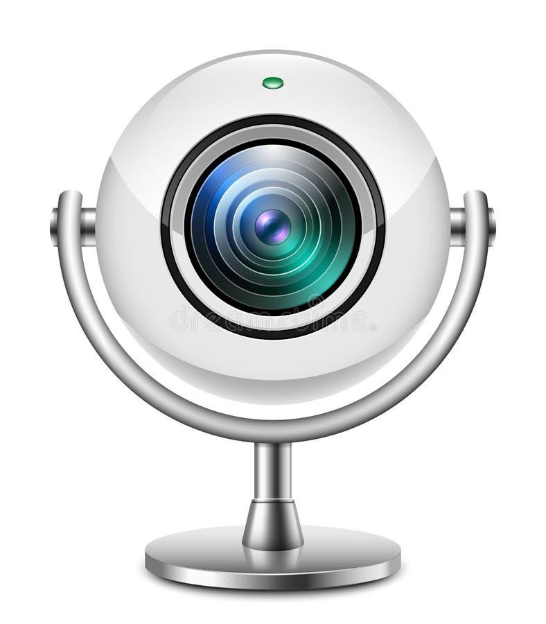 Icône réaliste de caméra web illustration libre de droits