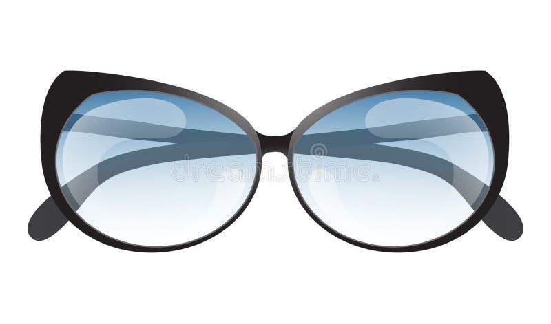 Icône réaliste de lunettes de soleil de protection du soleil d'été Illustra de vecteur illustration libre de droits