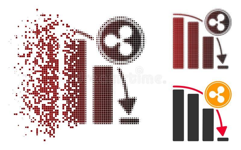 Icône réduite en fragments de diagramme de Dot Halftone Ripple Epic Fail illustration libre de droits
