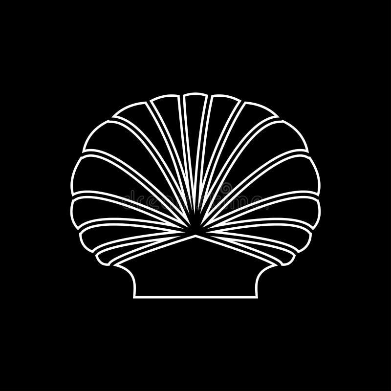 Icône réglée de gris de Shell illustration stock