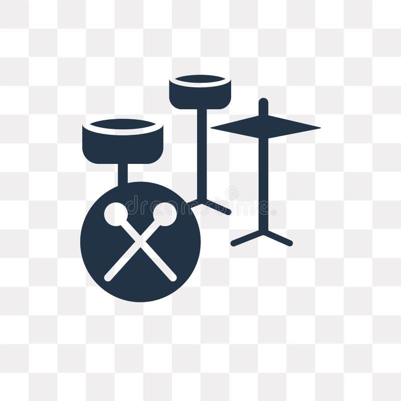 Icône réglée de vecteur de tambour d'isolement sur le fond transparent, Se de tambour illustration libre de droits