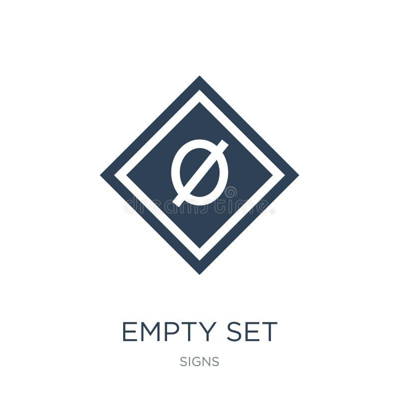 icône réglée vide dans le style à la mode de conception icône réglée vide d'isolement sur le fond blanc appartement simple et mod illustration de vecteur