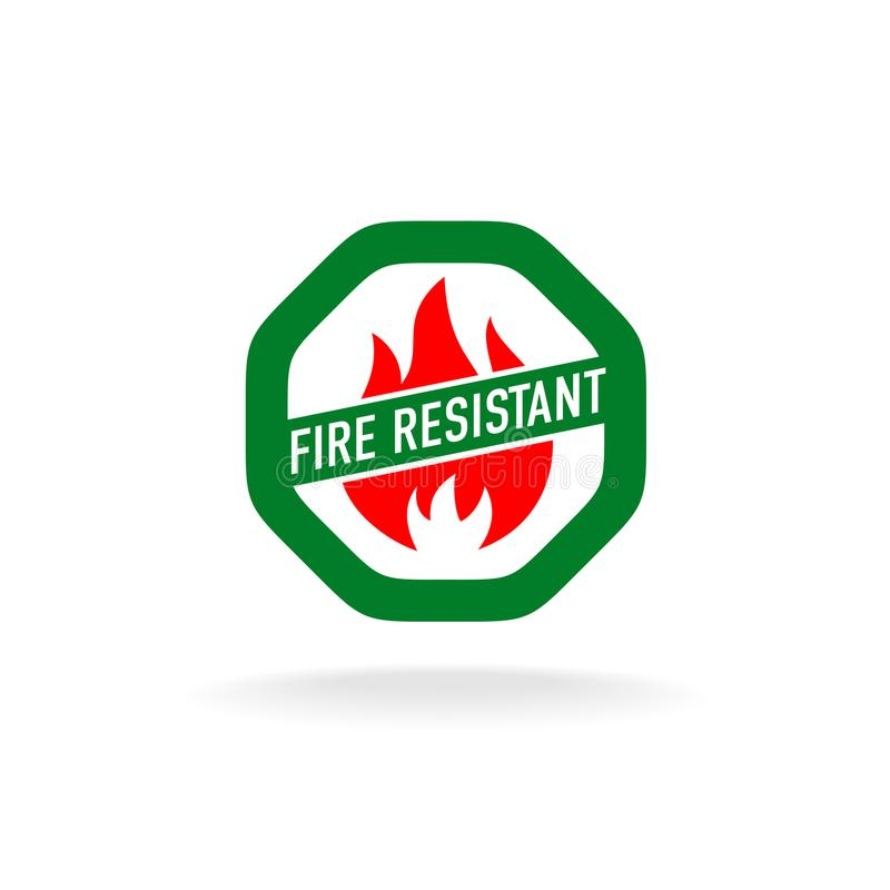Icône résistante au feu illustration stock