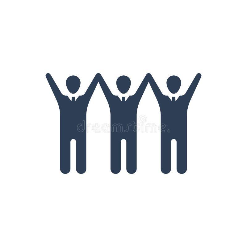 Icône Réussite de l'équipe illustration stock