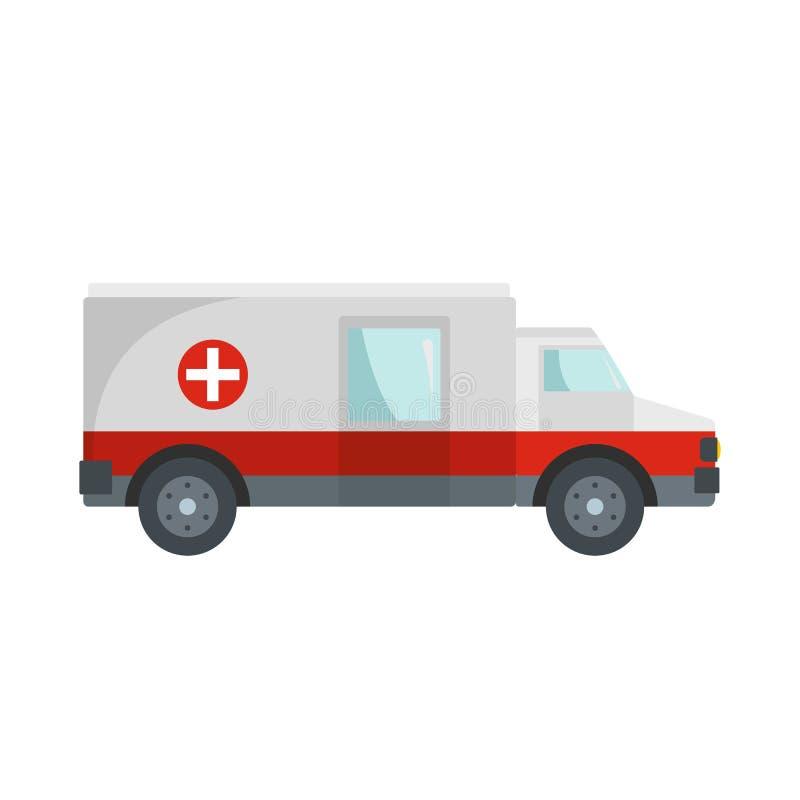 Icône rapide d'ambulance, style plat illustration stock