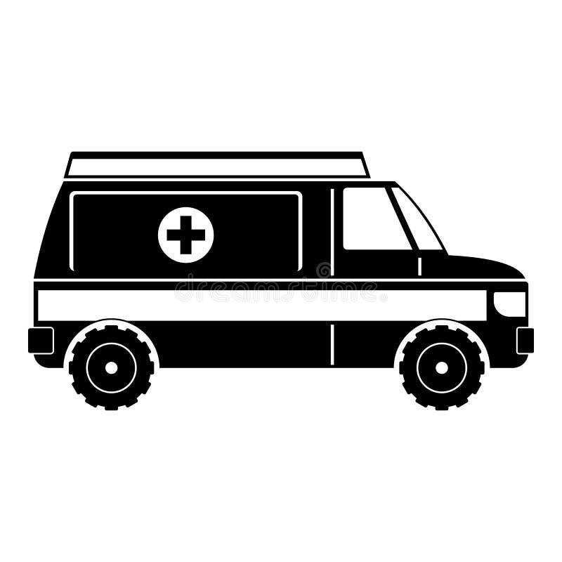 Icône rapide d'ambulance, style simple illustration de vecteur