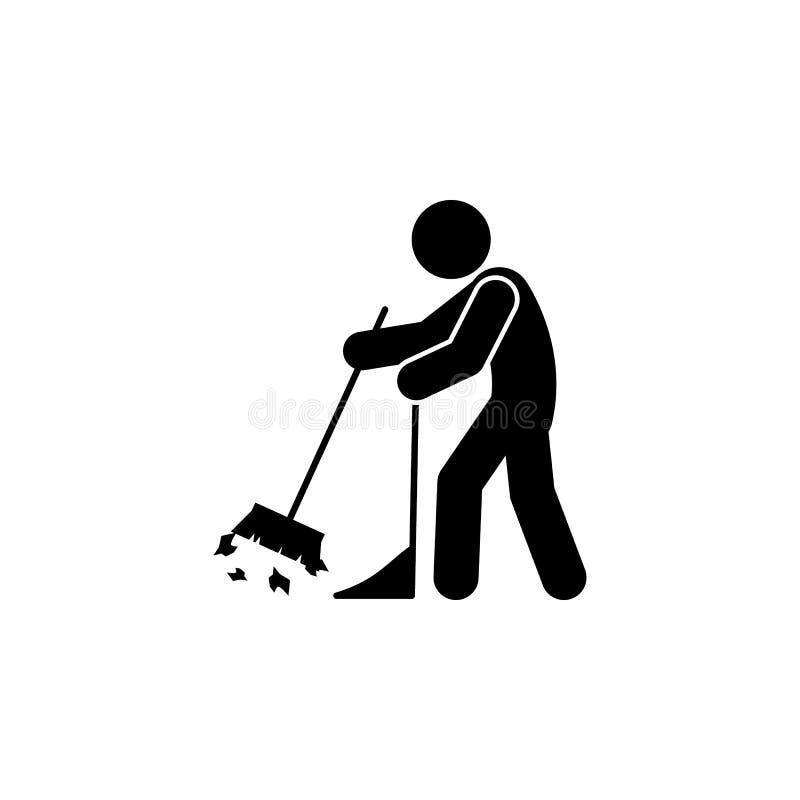 icône rapide d'homme Élément d'icône de nettoyage de l'homme pour les apps mobiles de concept et de Web L'icône rapide d'homme de illustration stock
