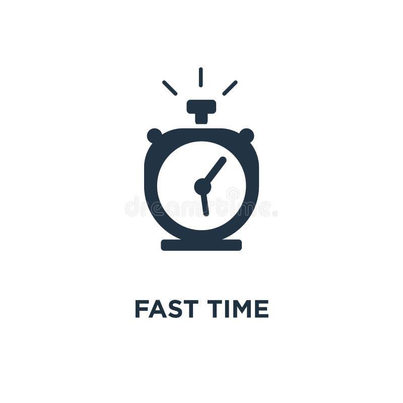 Icône rapide de temps conception de symbole de concept de vitesse de chronomètre, livraison rapide, services exprès et urgents, d illustration de vecteur