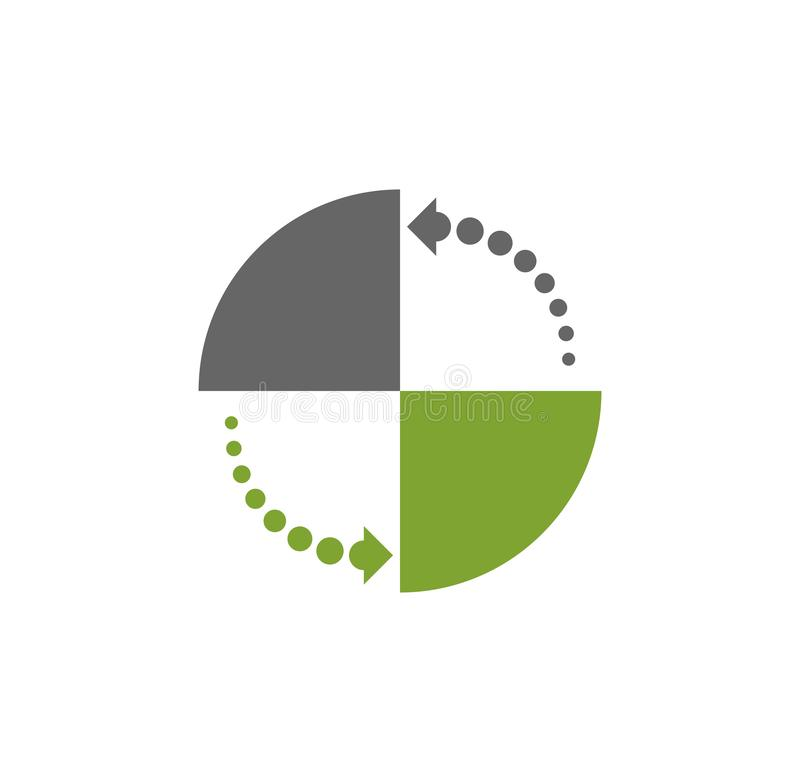 Icône relative de chargement sur le fond pour le graphique et la conception web Illustration simple Symbole de concept d'Internet illustration libre de droits