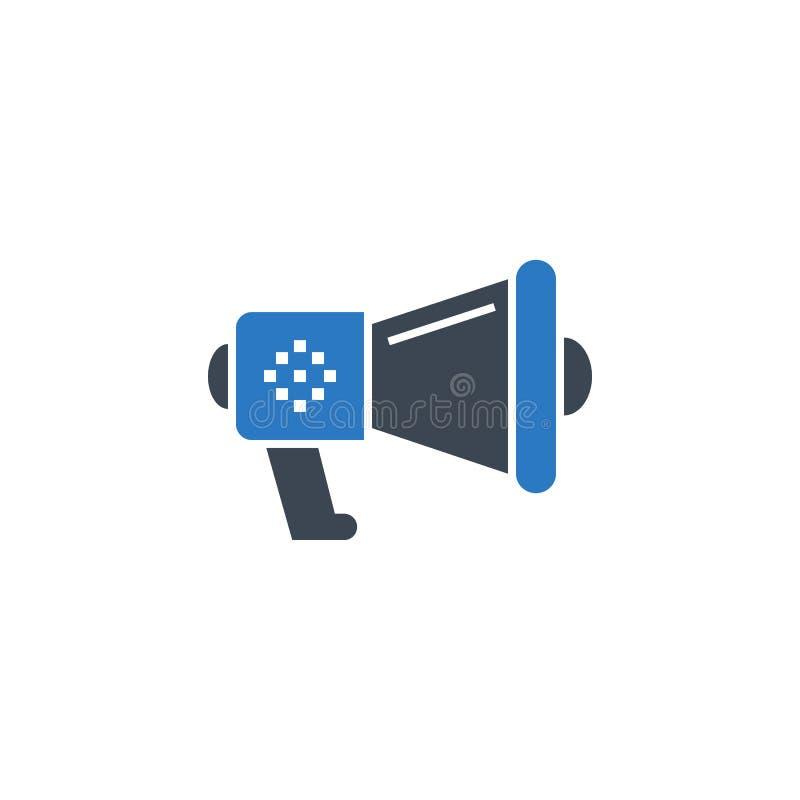 Icône relative de glyph de vecteur de haut-parleur bruyant illustration de vecteur