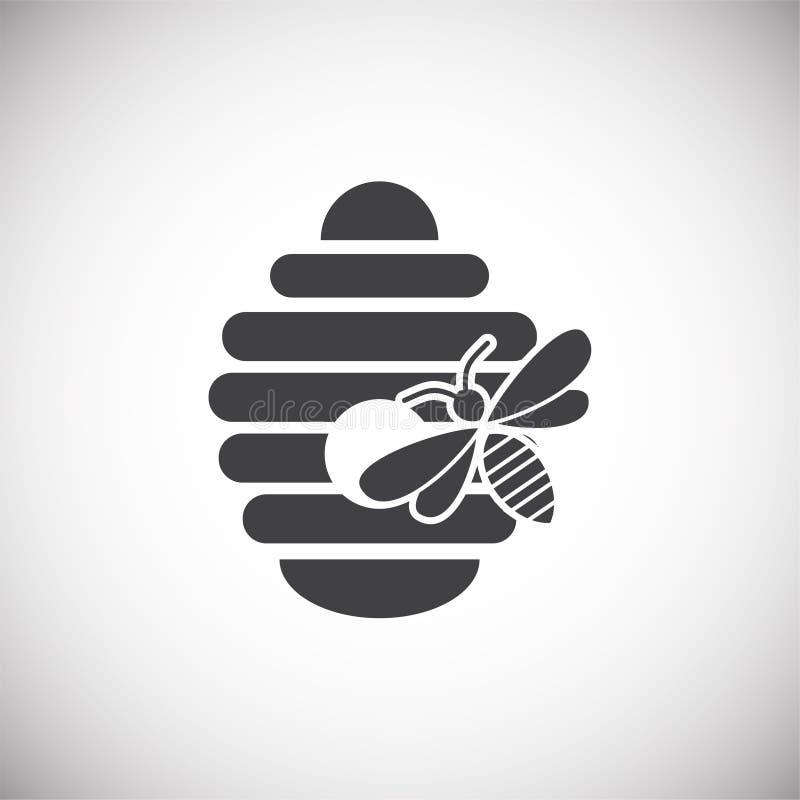Icône relative de l'apiculture sur le fond pour le graphique et la conception web Illustration simple Symbole de concept d'Intern illustration de vecteur
