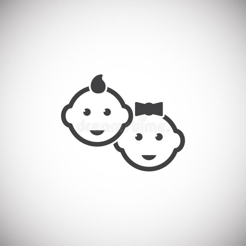 Icône relative de reproduction sur le fond pour le graphique et la conception web Illustration simple Symbole de concept d'Intern illustration stock