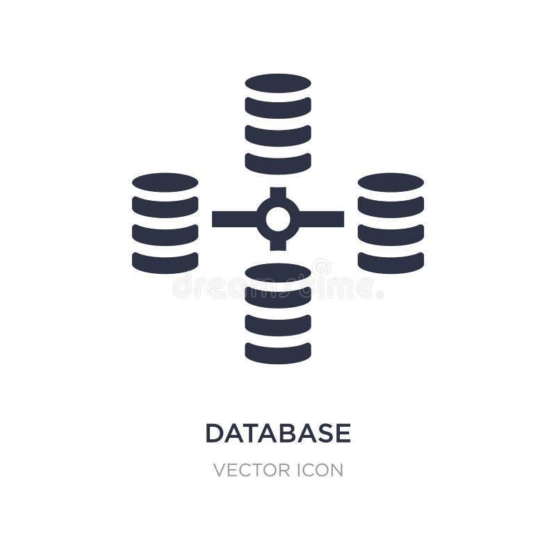 icône reliée ensemble par base de données sur le fond blanc Illustration simple d'élément de concept d'affaires et d'analytics illustration libre de droits