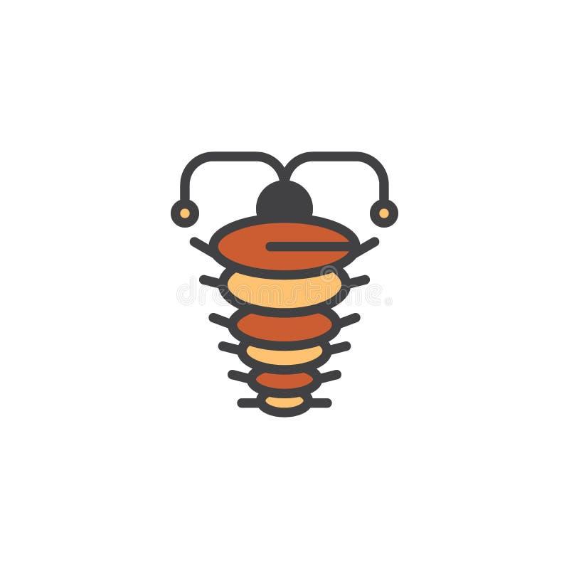 Icône remplie par arthropode d'ensemble illustration stock