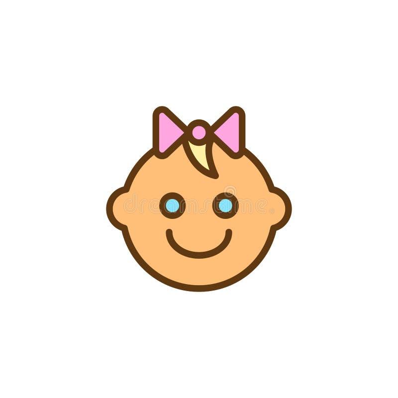 Icône remplie par bébé d'ensemble illustration de vecteur