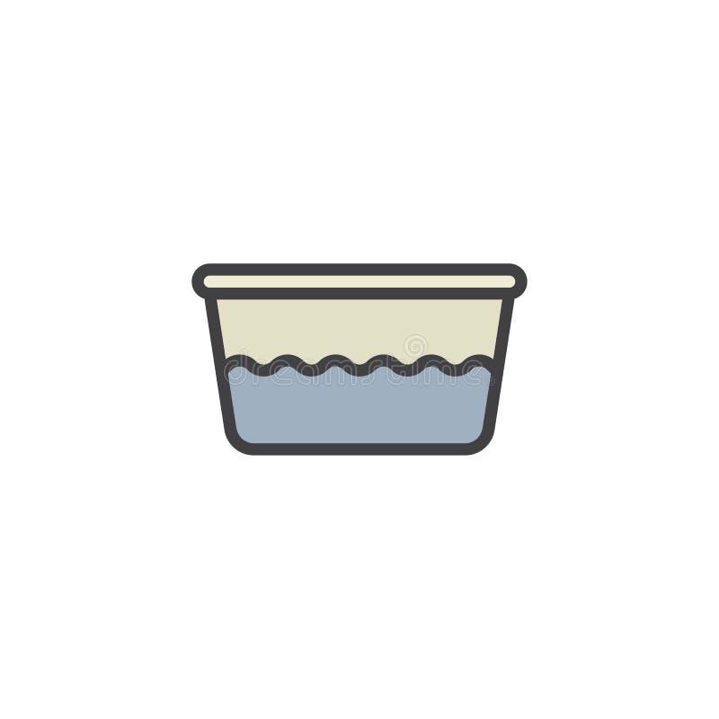 Icône remplie par bassin d'ensemble de l'eau illustration stock