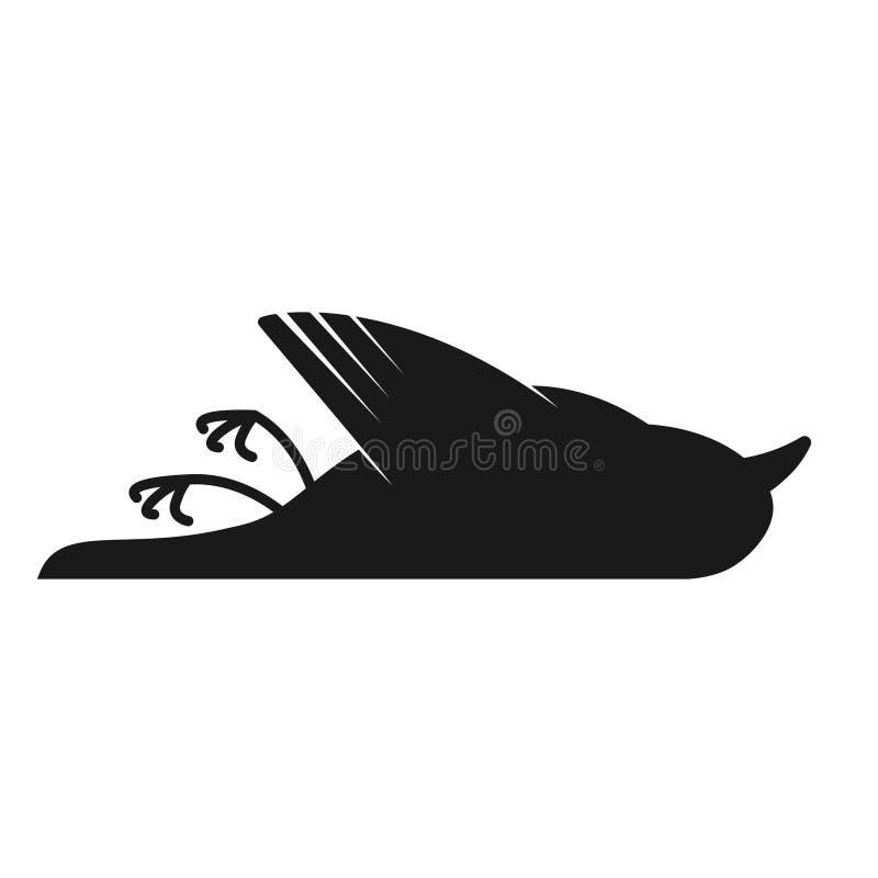 Icône remplie par oiseau mort d'ensemble illustration de vecteur