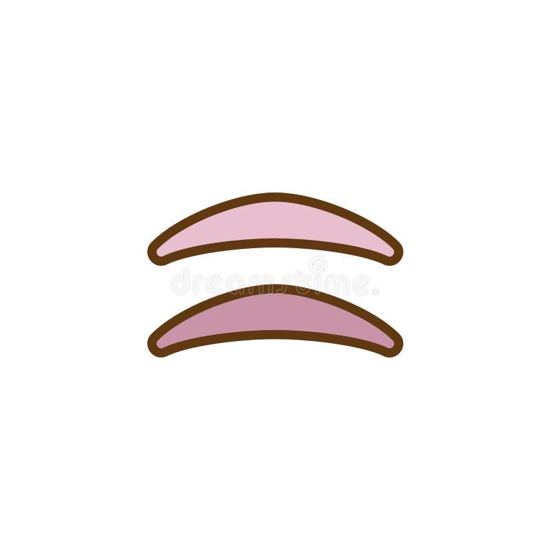 Icône remplie par paupière d'ensemble de maquillage illustration libre de droits