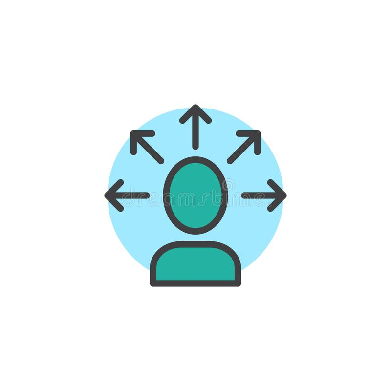 Icône remplie par solution d'ensemble d'affaires illustration libre de droits