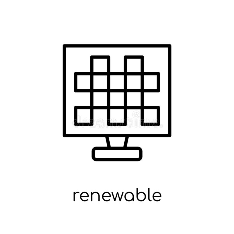 Icône renouvelable  illustration de vecteur
