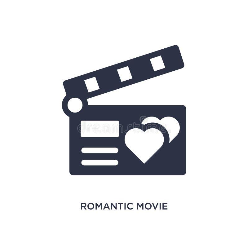 icône romantique de film sur le fond blanc Illustration simple d'élément de l'amour et du concept de épouser illustration stock