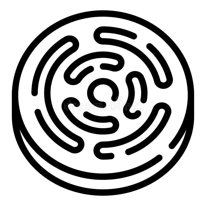 Icône ronde de biscuit, style d'ensemble illustration libre de droits